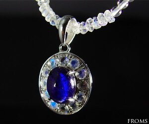 ◆4月末まで、ネックレス特別プレゼント中!◆サファイア&ムーンストーンネックレス★ザナドゥの光…