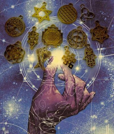 ◆3/26まで特別ポイント10倍◆古代神聖幾何学「おみくじ」エナジーアミュレットオラクル【メール便可】