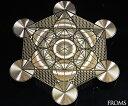 古代神聖幾何学 メタトロン キューブ フルーツオブライフエナジーカード 幸運 開運 護符の商品画像
