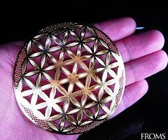 【8月末まで特別レビュー(アゼツさざれ)プレゼント】神秘幾何学フラワーオブライフ【メール便可】f-§