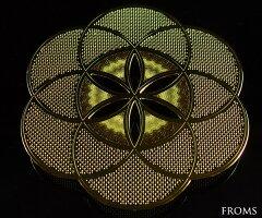 古代神聖幾何学エッグオブライフ(シードオブライフ)【メール便可】f-§