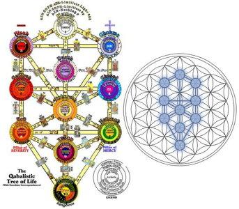 古代神聖幾何学カバラ(セフィロトの樹)*ライフ・オブ・ツリー【メール便可】f-§