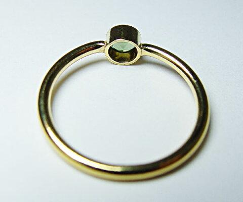 宝飾質モルダバイトリングブリリアントカット4mmスピリチュアルパワーストーンラッピングレディース隕石