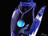 【送料無料】幻のブルーアンバーペンダントトップ約12mm【琥珀】【原石】【化石】
