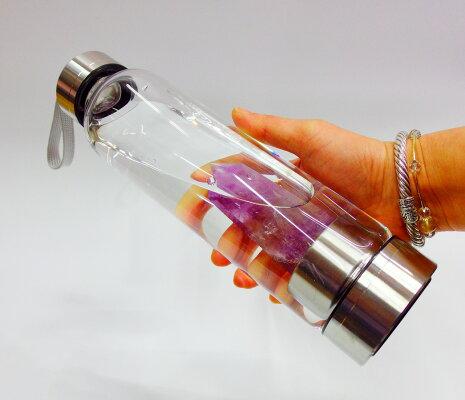【送料無料】クリスタルエリキシルボトルクリスタルウォーター宝石ウォーターボトルパワーストーン水筒