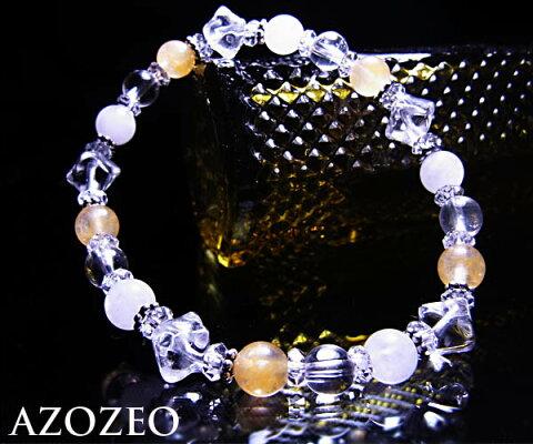 【送料無料】Azozeo超活性化アゼツライト3種トリニティオブライト*エナジーブレスレット6mm【ヘブン&アース社】アザゼオ/アゾゼオ