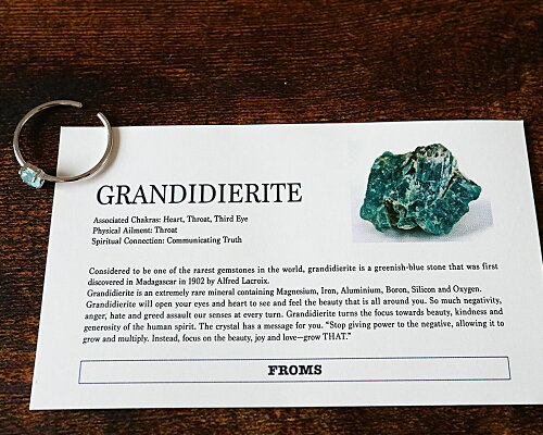 希少石約0.3ctグランディディエライトフリーリング指輪GRANDIDIERITEラウンドカットSVシルバーレディーススピリチュアル新商品ポイント10倍11end