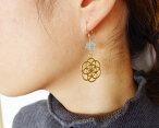 古代神聖幾何学ツリーオブライフマルカバスター水晶ピアスk14goldfildポスト【メール便送料無料】
