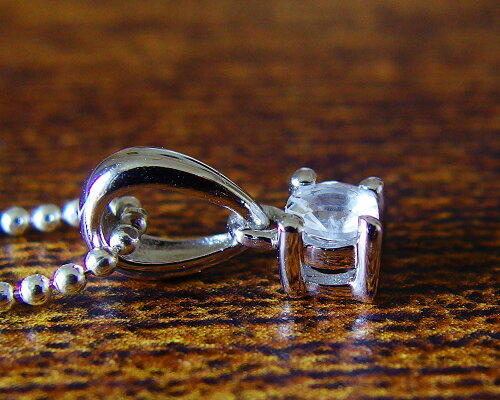 宝飾質4mmフェナカイトベンダントネックレスk14gf/k18