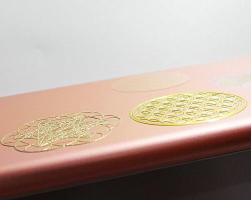 古代神聖幾何学【送料無料】高級エナジーメタルステッカーフラワーオブライフメタトロン金属ステッカー3D