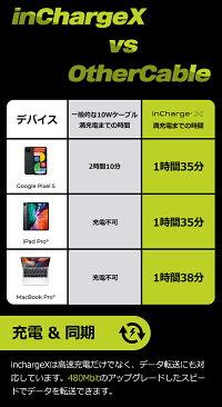 6in1USBケーブル【inChargex】usbtype-cライトニングケーブ充電携帯用マルチケーブルiPhone充電ケーブル変換iPhoneAndoroidiPad一般販売6-6in1急速充電スマホからスマホに充電