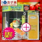 【あす楽対応】【さらに選べるおまけ付き】【野菜調理器】日本製 サンローラ サラダセット(cooking cutter SALAD SET) 4プレート安全器付き + 単品スペアプレート おろし(黄色) しょうが・ワサビ用の細目おろし付き セット - 切れ味も味のうち!【smtb-s】