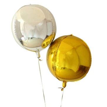 結婚式 風船 バルーン 丸形 ゴールド シルバー 極厚 アニバーサリー ウエディング 誕生日 二次会 前撮り パーティ プロポーズ ぺたんこ配送