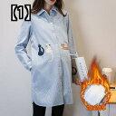 妊娠 中の女性のシャツ 春と秋の服 新しいミドル 丈 ラージ サイズ ルーズ ストライプ ファッション ワイルド OL プロフェッショナル ウェア