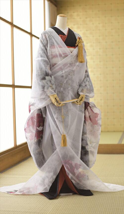 レンタル オーガンジー打掛 フルセットレンタル 花嫁和装 花嫁衣裳 着物 着物レンタル 色打掛レンタル 結婚式 貸衣装 フルフル かしいしょう