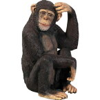 FRPアニマルオブジェ チンパンジー 【即納可】 置物 動物 猿 サル さる 動物園 店舗 カフェ 喫茶店 レストラン 飲食店 インテリア イベント ディスプレイ 実物大 等身大 リアル 【whlny】