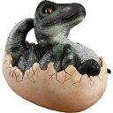 FRP恐竜オブジェ 孵化するT-Rex 置物 白亜紀 肉食恐竜 獣脚類 ティラノサウルス 卵 標本 博物館 店舗 イベント ディスプレイ 実物大 等身大 リアル