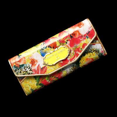 色あざやかに咲き誇るアートレザーのギャルソン財布 Salu Celia(サルー チェーリア):フルッティ ディ ボスコ(バッグ)