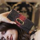 珍しいエナメルパイソンのグラデーション長財布 Daria (ダリア)パイソン ヘビ革 財布 レディース フルッティ ディ ボスコ