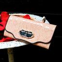 【6月中旬頃受付再開予定】繊細なレースのようなアートレザーの長財布Sera merlette(セーラ メルレット) 財布 レディース 長財布 レース 春財布 FRUTTI DI BOSCO(フルッティディボスコ)