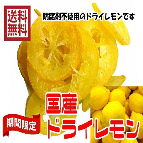 送料無料国産輪切りレモンお試しドライフルーツ国産ビタミンC80g×2パック