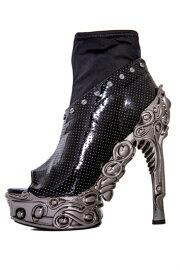 hades【即納】ヘイディーズ/hadesfootwear・品番:VALERIA/ヴァレリア/オープントゥーショートブーツ/ブラック