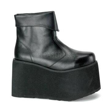 PLEASER【取り寄せ】ファンタズマ・品番:MONSTER-02/モンスター厚底ブーツ/メンズ/合皮ブラック/黒