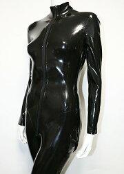 RubbberWear【取り寄せ】ラバーキャットスーツ/スーツ/ラバー/ファッション/ラバーウェア/ラテックス/ボディースーツ/レディース/コスプレ/ブラック/黒