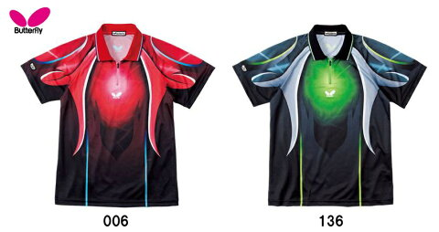 Butterflyバタフライ 卓球ゲームシャツ「カーボフレア・シャツ」44360