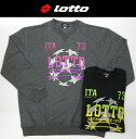 【lotto ロット】2L/3L/4L/5L メンズ プリントトレーナー ミニ裏毛【送料無料】【キングサイズ king size】【メール便不可】大きいサイズ