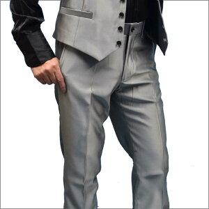 パンツ スラックス 光沢調 グレー メンズ カジュアル お兄系 キレイめ セレブ系 ホスト 通販 [セットアップ スーツにコーディネートも可能] 日本製 メンズ ファッション あす楽 おしゃれ ちょいワル 【送料無料】