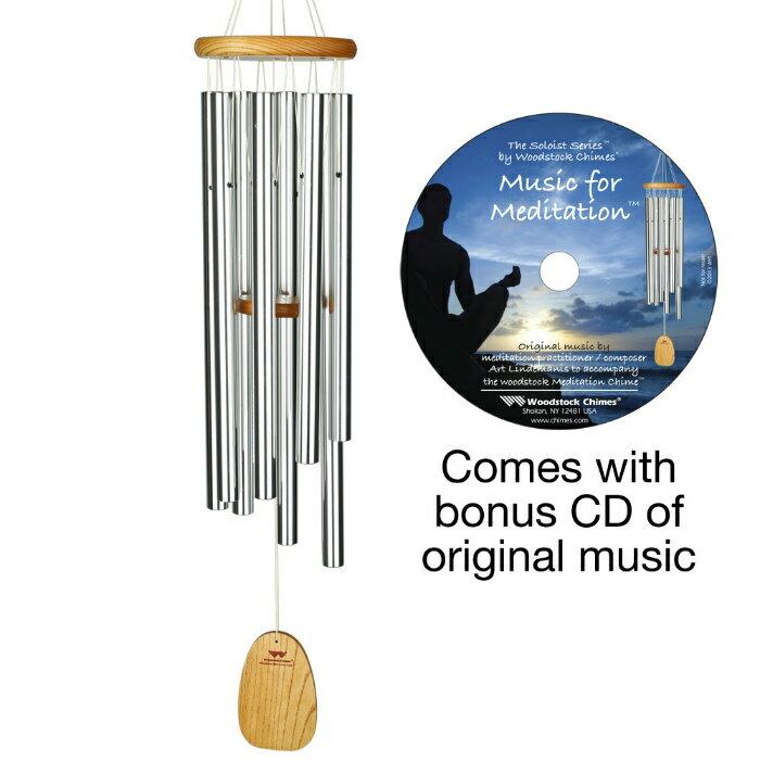 インテリア小物・置物, その他 CDTMSWoodstockChimesSoloist - Meditation Chime with Bonus CD