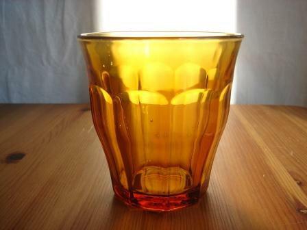 デュラレックス アンバー ピカルディ 220cc DURALEX アメ色ガラス フランス製 カフェ食器 人気グラス【SALE/fucca限定価格】