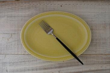 人気商品 リムプチドット オーバルプレート 21センチ  シトロンイエロー 美濃焼 人気洋食器 【sale 人気食器 美濃焼 インスタグラム】