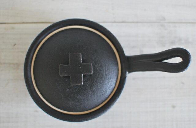 新商品 手作り クロス片手土鍋 125cc 黒 直火 オーブン 耐熱食器 美濃焼