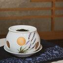 茶香炉 陶器 磁器 有田焼 ラベンダー アロマ アロマポット 香炉 癒し リラックス 日本茶 茶葉 香水 インテリア 雑貨 消臭