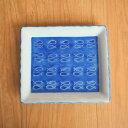 特価品 角皿 6寸 19cm 藍色 魚 皿 焼き魚 有田焼 大きい かわいい 和食 和食器 呉須 手描き 染付 日本製