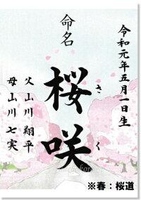 代筆命名書春:桜道命名書
