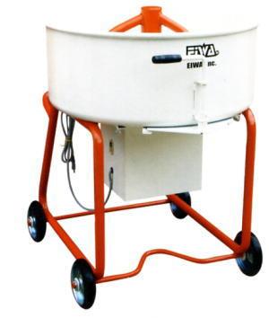 【EIWA 栄和機械工業】モルタルミキサーEMG-3.5DH一輪車受け取り可の脚高タイプ