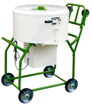 【EIWA 栄和機械工業】モルタルミキサーEMT-2.5HT(750W)一輪車受け取り可の脚高タイプ