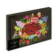 アウトレット特価★ナカバヤシ 海外デザイン 黒台紙ブック式アルバム A5サイズ(台紙10枚) アE-MB-121-2 ラブリーロンドン #102#