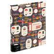 【アウトレット特価】ナカバヤシ 海外デザイン 黒台紙ブック式アルバム 六ツ背丸サイズ(台紙20枚) アE-RB-251-2 ロンドン #102#
