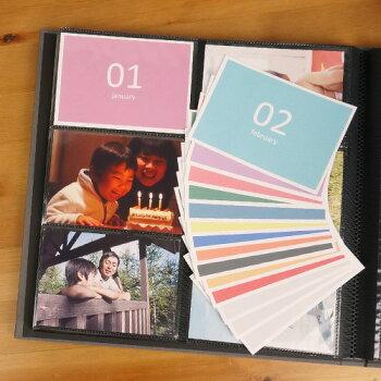 一ヵ月に1枚、カラフルなインデックスカード★マンスリーカードOUR-INC-2/手芸デコレーションスクラップラッピングメッセージ#205#一ヵ月に1枚、記録を残せます!「育児日記カード」OUR-INC-1