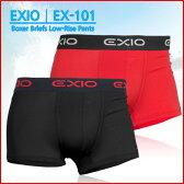 EXIO エクシオ ボクサーブリーフ ローライズ ボクサーパンツ メンズ 全8カラー