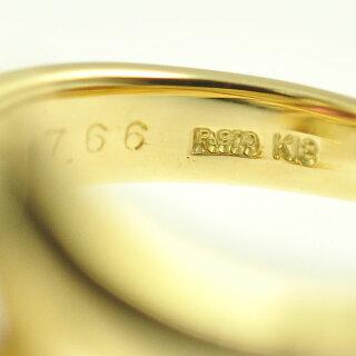 【スーパーSALE】K18イエローゴールドプラチナ900/ロードライトガーネット/ダイヤモンド/マルチカラートライアングルジュエリーサイズ:12号【】【送料無料】