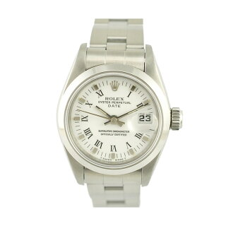 【中古】ロレックスオイスターパーペチュアルデイトレディース腕時計69160自動巻き文字盤ホワイトROLEX[送料無料]