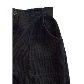 シャネルコーデュロイパンツブラックカジュアルストレート98年サイズ:38CHANEL【中古】