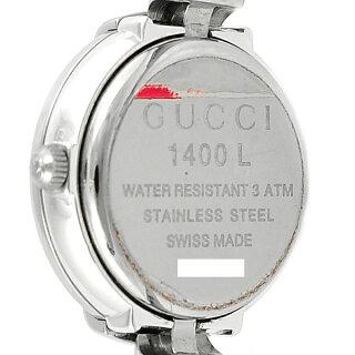 GUCCI/グッチ/レディース腕時計/SS/1400L/文字盤黒クォーツ【】【送料無料】