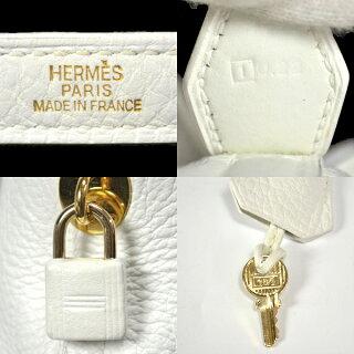 HERMES/エルメス/トリヨンクレマンス/ボリード31/ハンドバッグ/□I刻印/ホワイト[中古][送料無料]