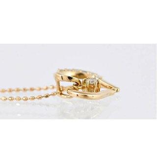 【スーパーSALE】K18ピンクゴールド/ダイヤモンド/ペンダント/ハートジュエリーレディース【】【送料無料】